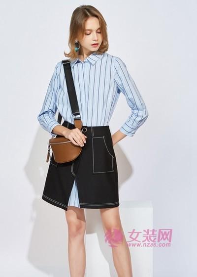 欧炫尔穿衬衫搭配半身裙也太美了,优雅时尚显气质(图3)
