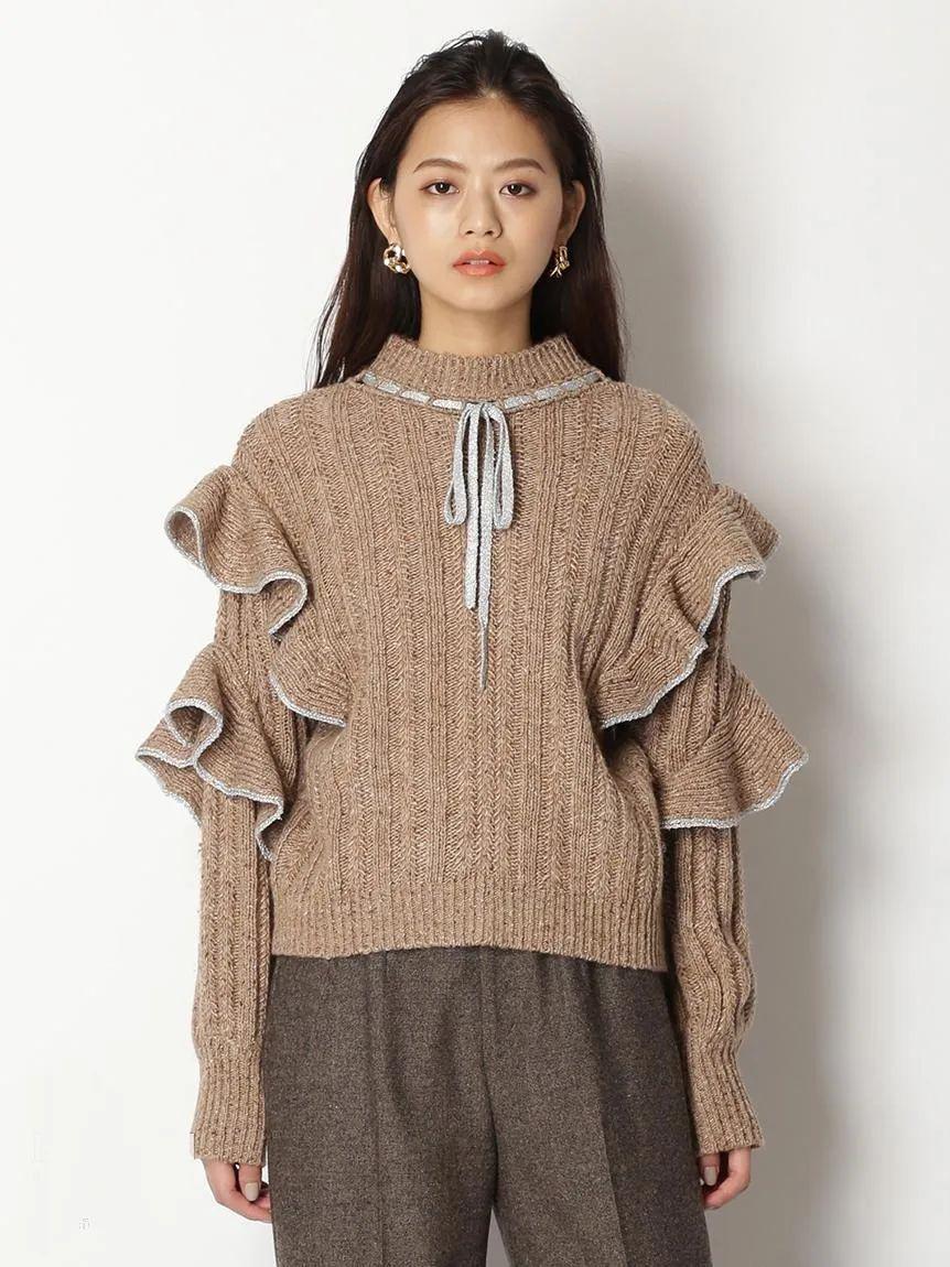 2020/21秋冬毛衣单品趋势 荷叶边·蝴蝶结(图10)